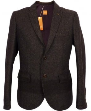 Hugo Boss Grey Herringbone Beneslim5-D Jacket