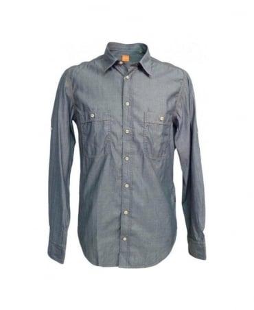 Hugo Boss Grey Herringbone CalifoE 50247310 Shirt