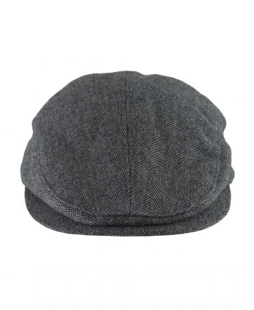 Grey Herringbone Drivers Cap