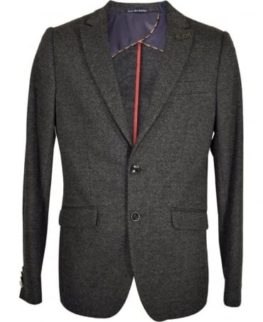 Scotch & Soda Grey Herringbone Jacket