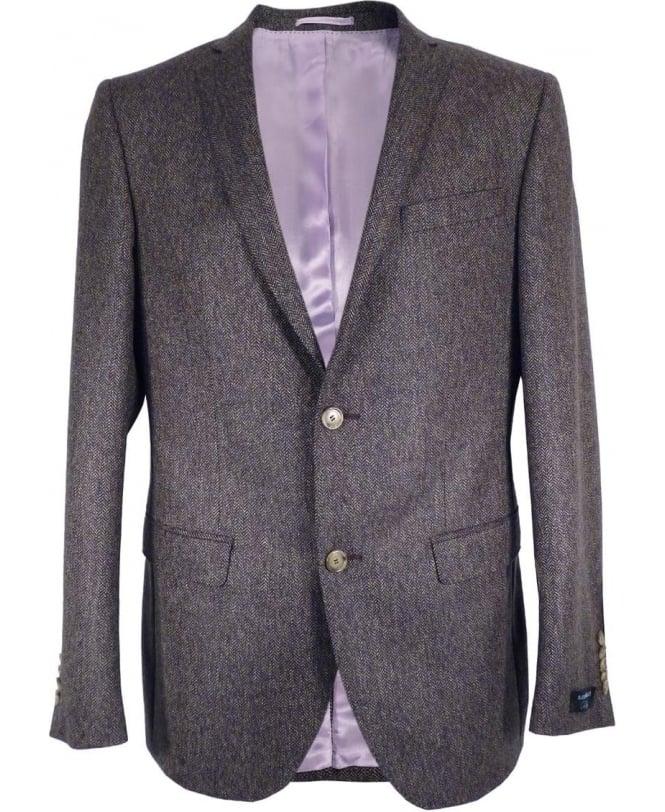 Gerard Connolly Grey Herringbone Paul Single Vent Jacket