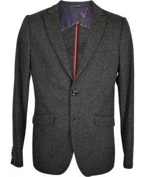 Scotch & Soda Grey Herringbone Regular Fit Jacket