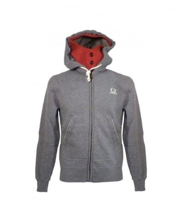 C.P. Company Grey Hooded Regular Fit Sweatshirt