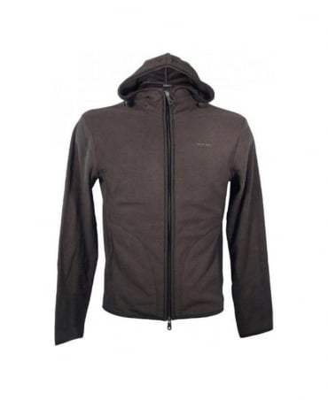 Armani Grey Hooded Slim Fit Fleece U6M91 47