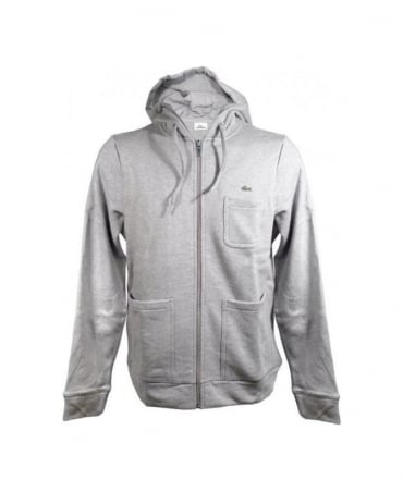 Lacoste Grey Hooded Sweatshirt SH7115