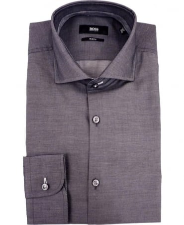 Hugo Boss Grey Jery 50291446 Contrast Trim Shirt