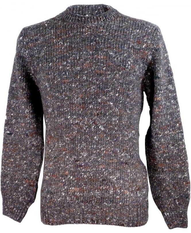 Paul Smith Grey JNRJ-493P-B97 Alpaca Silk Blend Flecked Knitwear
