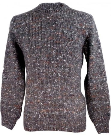 Paul Smith - Red Ear Grey JNRJ-493P-B97 Alpaca Silk Blend Flecked Knitwear