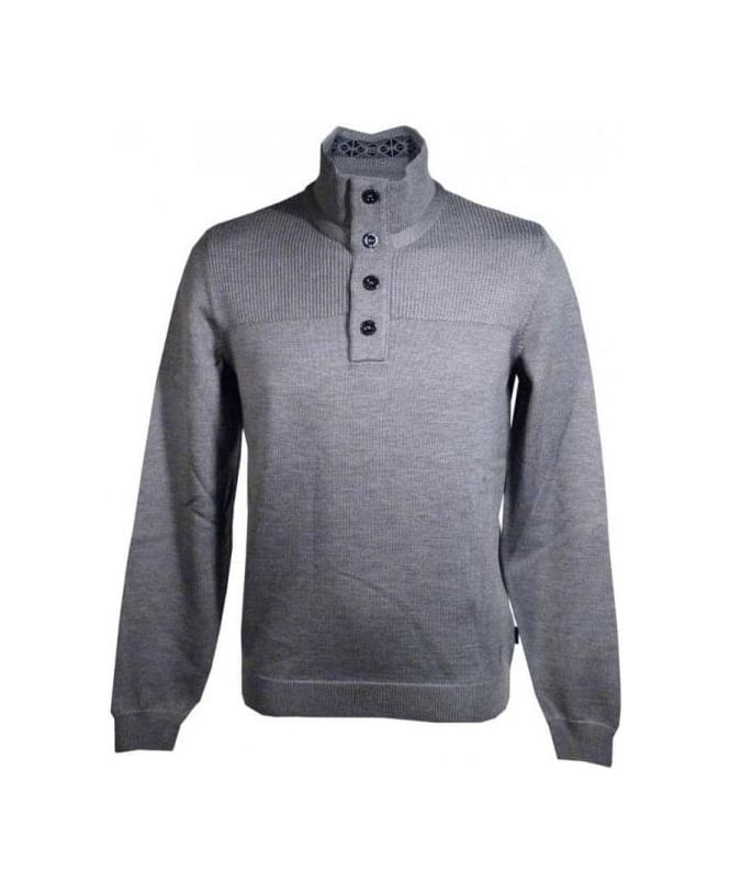 Hugo Boss Grey Lancelot Knit Jumper