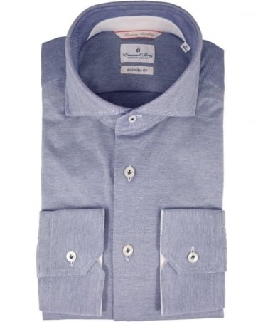Emanuel Berg Grey Long Sleeve Modern Fit Shirt