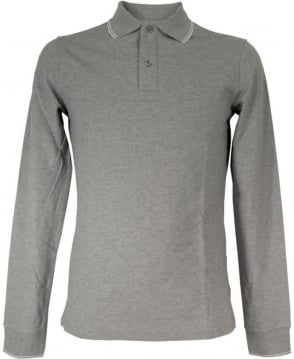 Armani Grey Long Sleeved 06M36BT Polo Shirt
