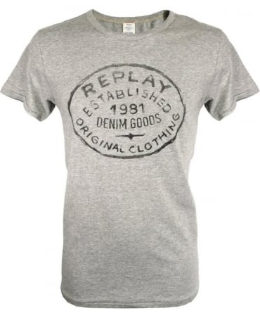 Replay Grey M6301 Crew Neck T-Shirt