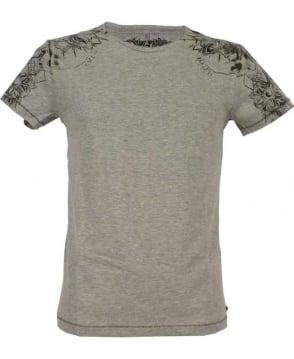 Replay Grey M6921 Shoulder Print T-Shirt