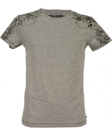Replay Grey M6921 Shoulder Print T-Shirt