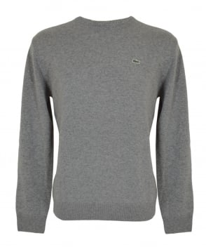 Lacoste Grey Marl AH2995 Crew Neck Jumper