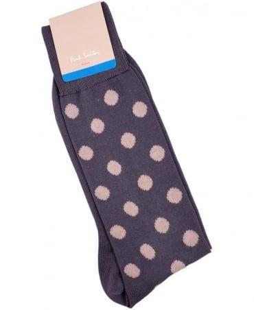 Paul Smith - Accessories Grey Maxi Spot ANXA-800E-F929 Sock