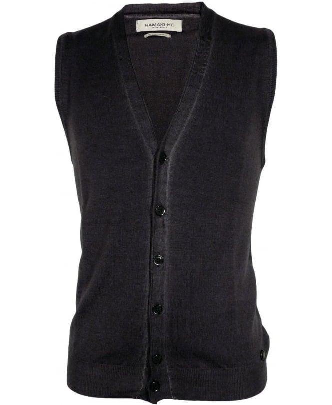 Hamaki-Ho Grey MI1590H Trim Button Vest