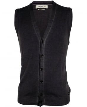 Hamaki-Ho Grey MI1590H Trim Button Vest