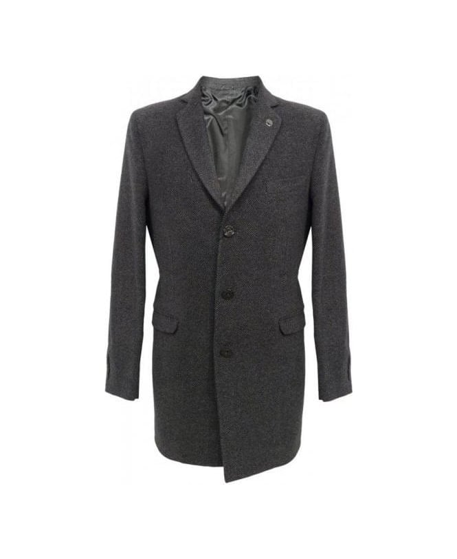 Hamaki-Ho Grey Mid Length Frock Coat GB448H