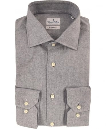 Emanuel Berg Grey Modern Fit Shirt