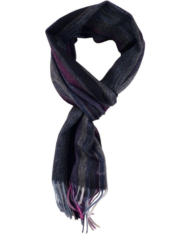 Paul Smith Grey Multi Stripe ANXA-501C-S163 Scarf