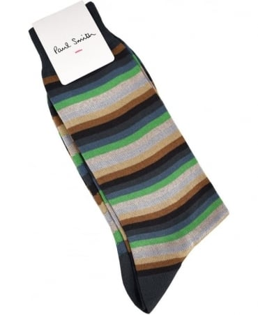 Paul Smith  Grey Multi Stripe ASXC/359A/K403 Sock