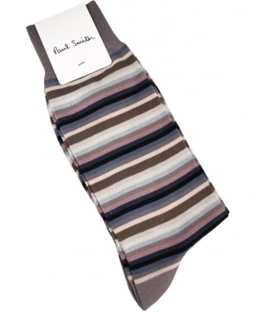 Paul Smith  Grey Multi Stripe ASXC/800E/K437 Socks