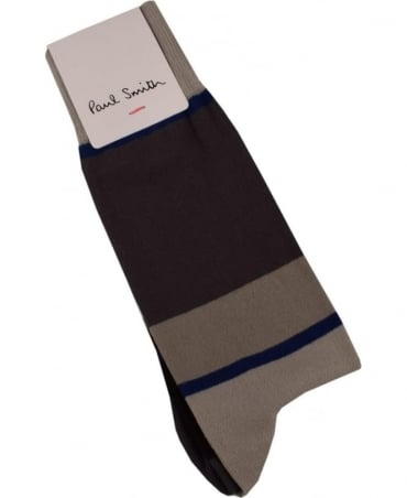 Paul Smith  Grey 'Odd Stripe' Socks