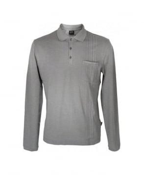 Hugo Boss Grey Ofena 02 Longsleeve Polo