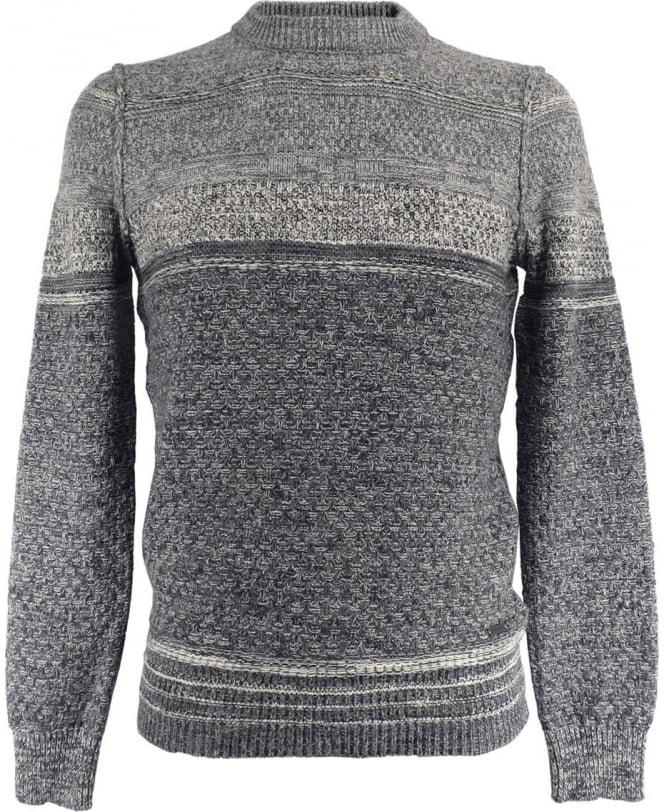 Hugo Boss Grey Patterned 'Agruade' 50324354 Knitwear