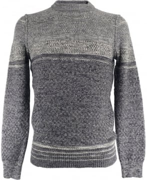 Hugo Boss Grey Patterned 'Agruade' 50324354 Knitwear