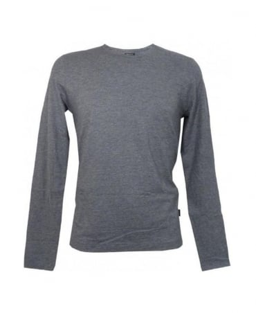 Hugo Boss Grey Pisa 44 Long Sleeved T- Shirt