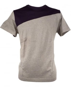 Paul Smith  Grey PMXD/877N/450 Two Tone Split T-shirt