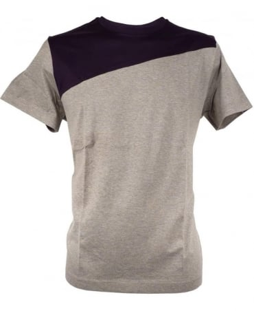 Paul Smith - PS Grey PMXD/877N/450 Two Tone Split T-shirt