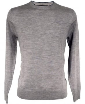 Grey PMXL/970N/K90 Blue Collar Trim Crew Neck Knitwear