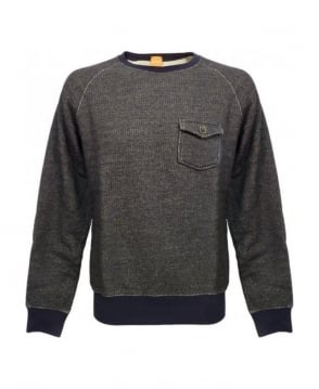Hugo Boss Grey Pocket Detail Wace Sweatshirt