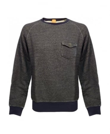 Grey Pocket Detail Wace Sweatshirt