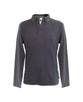 Armani Collezioni Grey Polo Sweatshirt