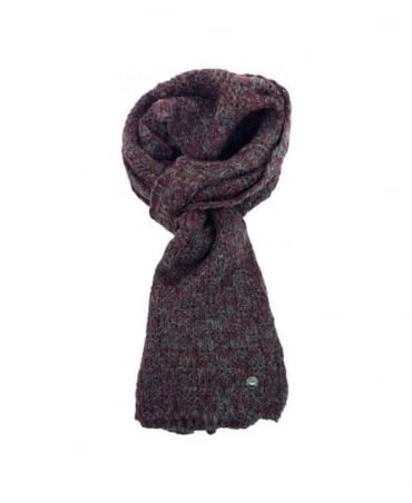 Hamaki-Ho Grey & Purple Knitted Scarf SP93H