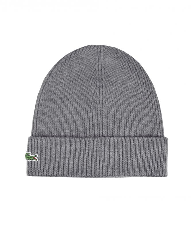 cf852acc88b Lacoste Grey RB3502 Ribbed Beanie - Hats from Jonathan Trumbull UK
