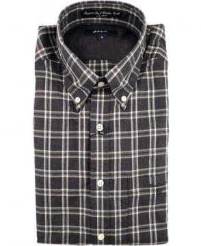 Gant Grey Ruppert Park Heather Twill Check Shirt