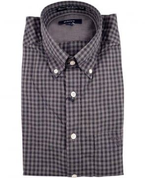 Gant Grey Ruppert Park Heather Twill Gingham Check Shirt