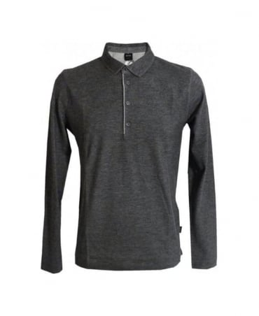 Hugo Boss Grey Sedilo Longsleeve Polo