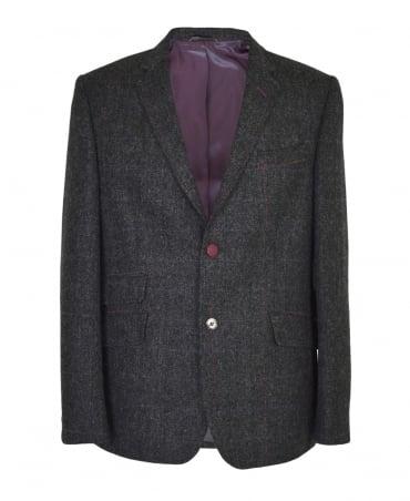 Holland Esquire Grey Shetland Heringbone Reginald Jacket