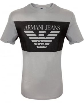 Armani Jeans Grey Short Sleeve Crew Neck T-Shirt