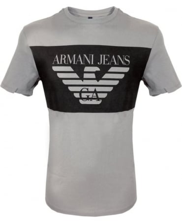 Armani Jeans Grey Short Sleeve Crew Neck T-Shirt