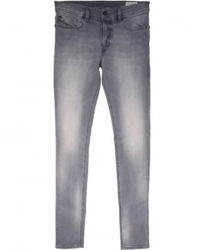 Diesel Grey Sleenker 0674T Stretch Jeans