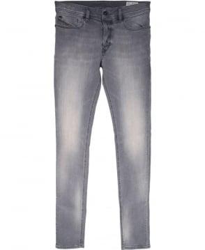 Diesel Grey Sleenker 0674T Stretch Jeans