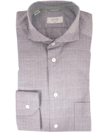Eton Shirts Grey Slim Fit 03717654815 Shirt