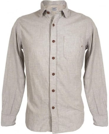 Replay Grey Small Check One Pocket Shirt M4858